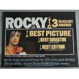ROCKY 1976 first release British Quad film poster in excellent rolled condition starring Sylvester