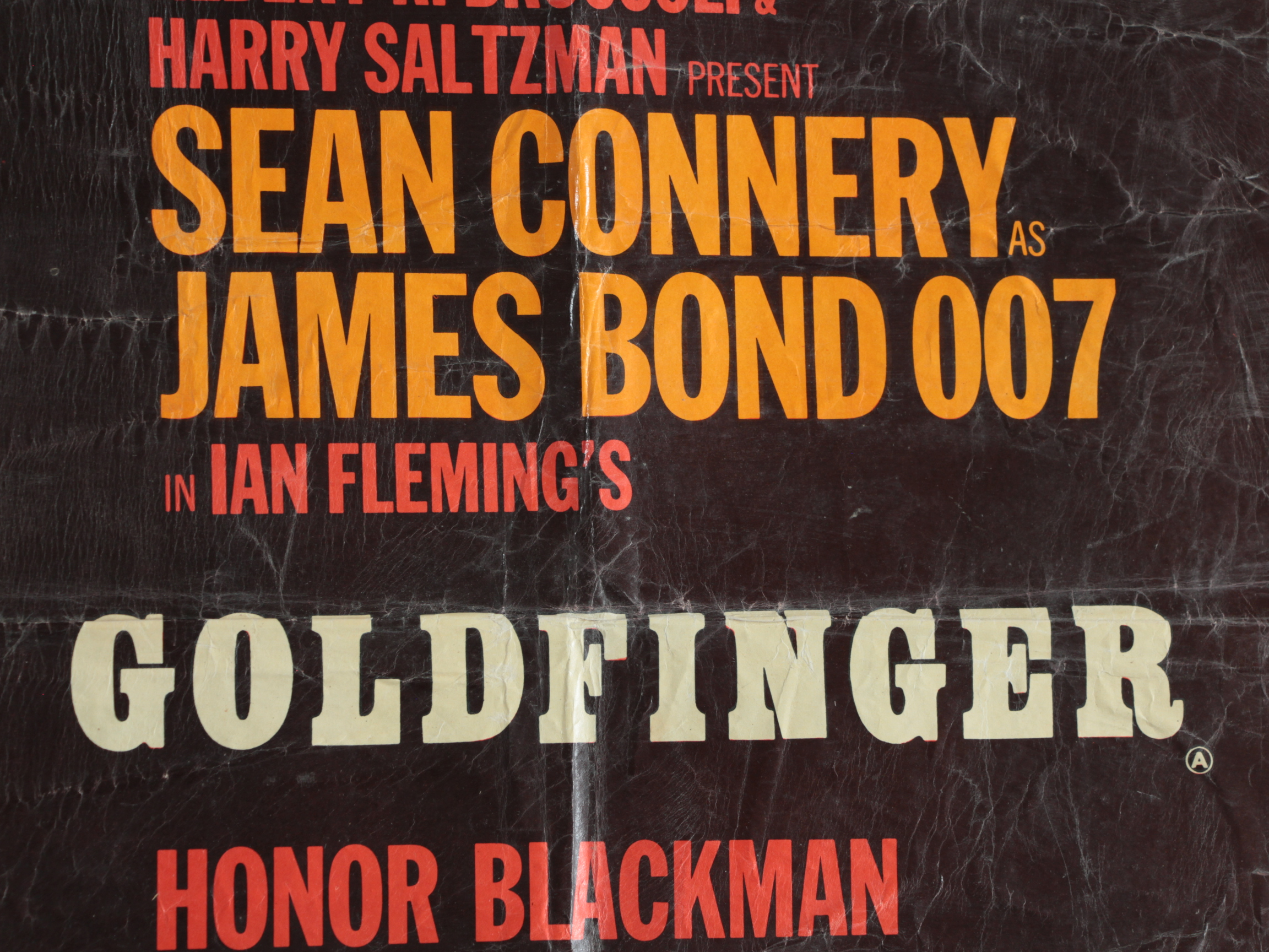 """""""Goldfinger"""" 1964 British Quad film poster with art by Robert Brownjohn. - Image 14 of 25"""