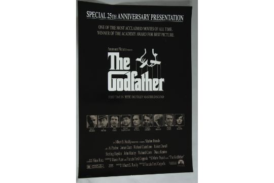 Rolled film posters including the godfather 25th anniversary