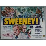SWEENEY 1975 X Certificate tri-folded first release British Quad film poster with art by Frank