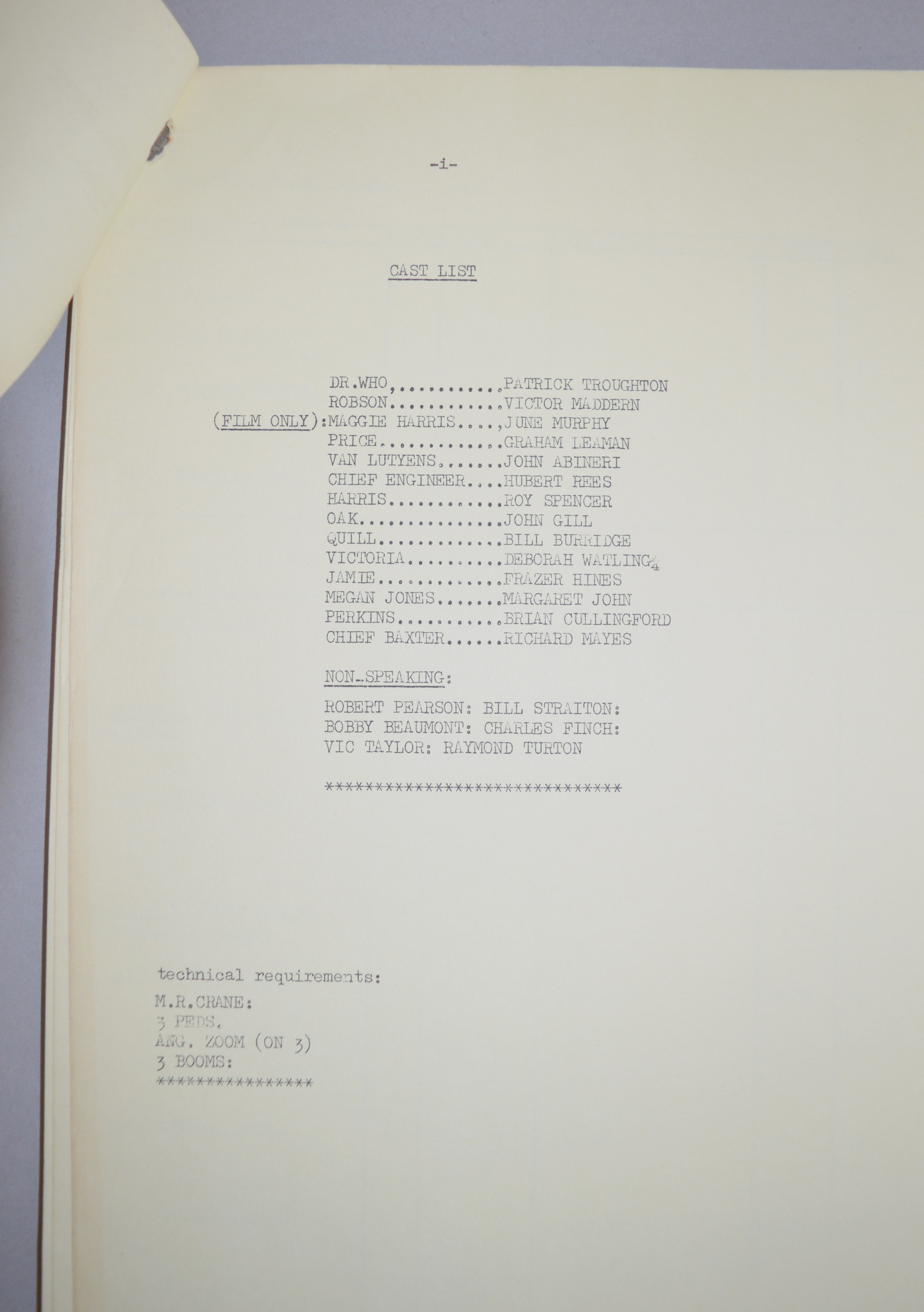 Doctor Who (Dr Who) full set of 6 original camera scripts from the missing 1968 Dr Who episode - - Image 5 of 17
