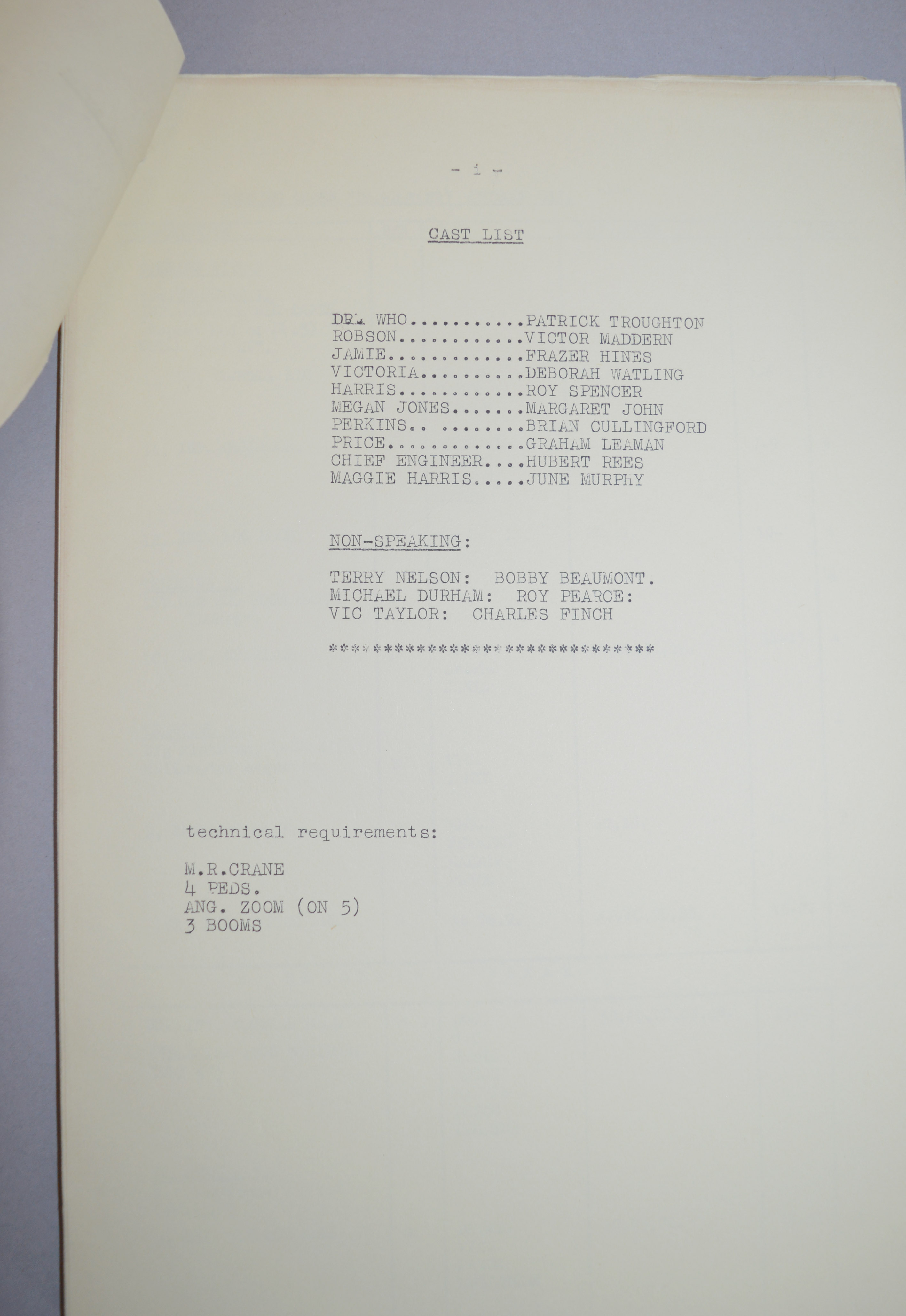 Doctor Who (Dr Who) full set of 6 original camera scripts from the missing 1968 Dr Who episode - - Image 9 of 17