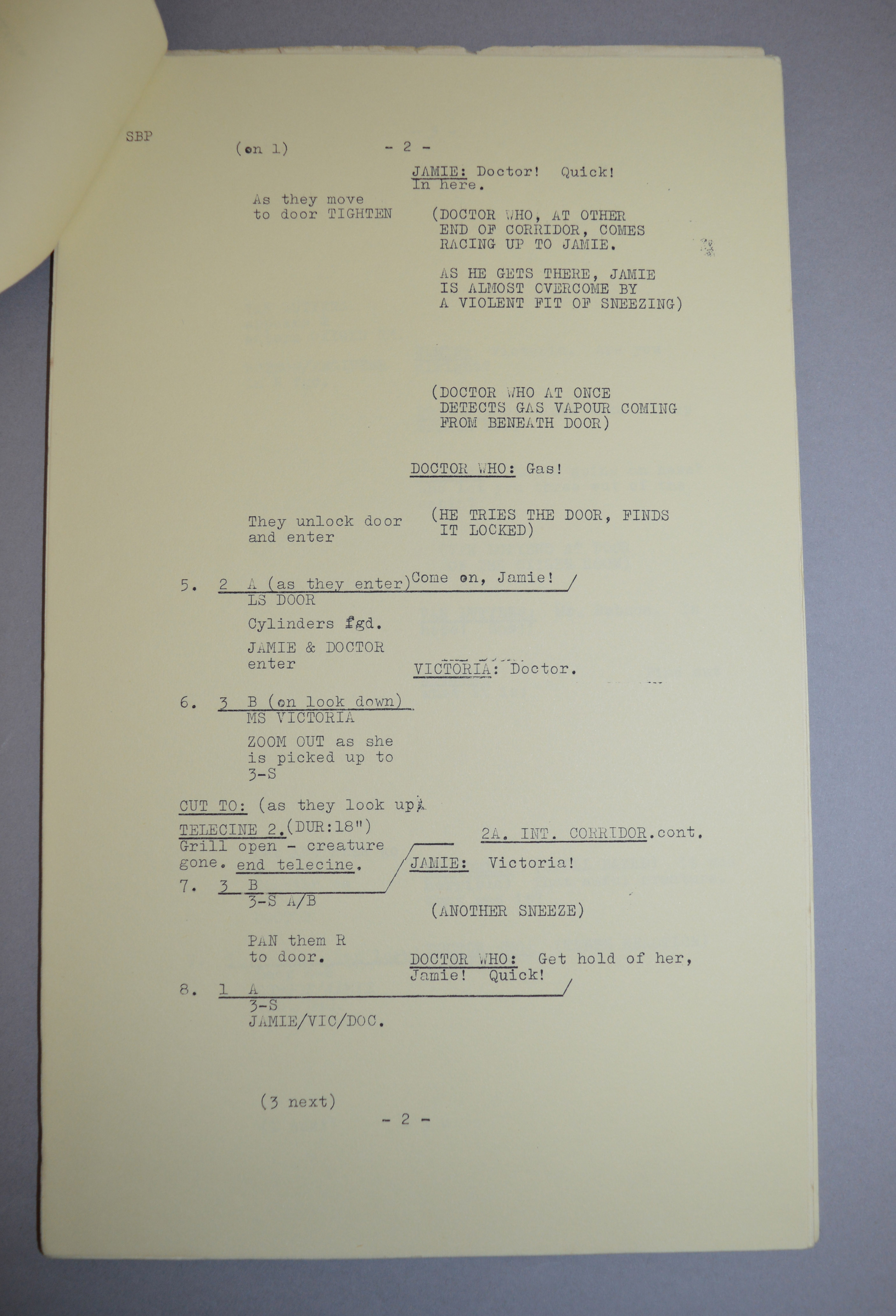 Doctor Who (Dr Who) full set of 6 original camera scripts from the missing 1968 Dr Who episode - - Image 15 of 17