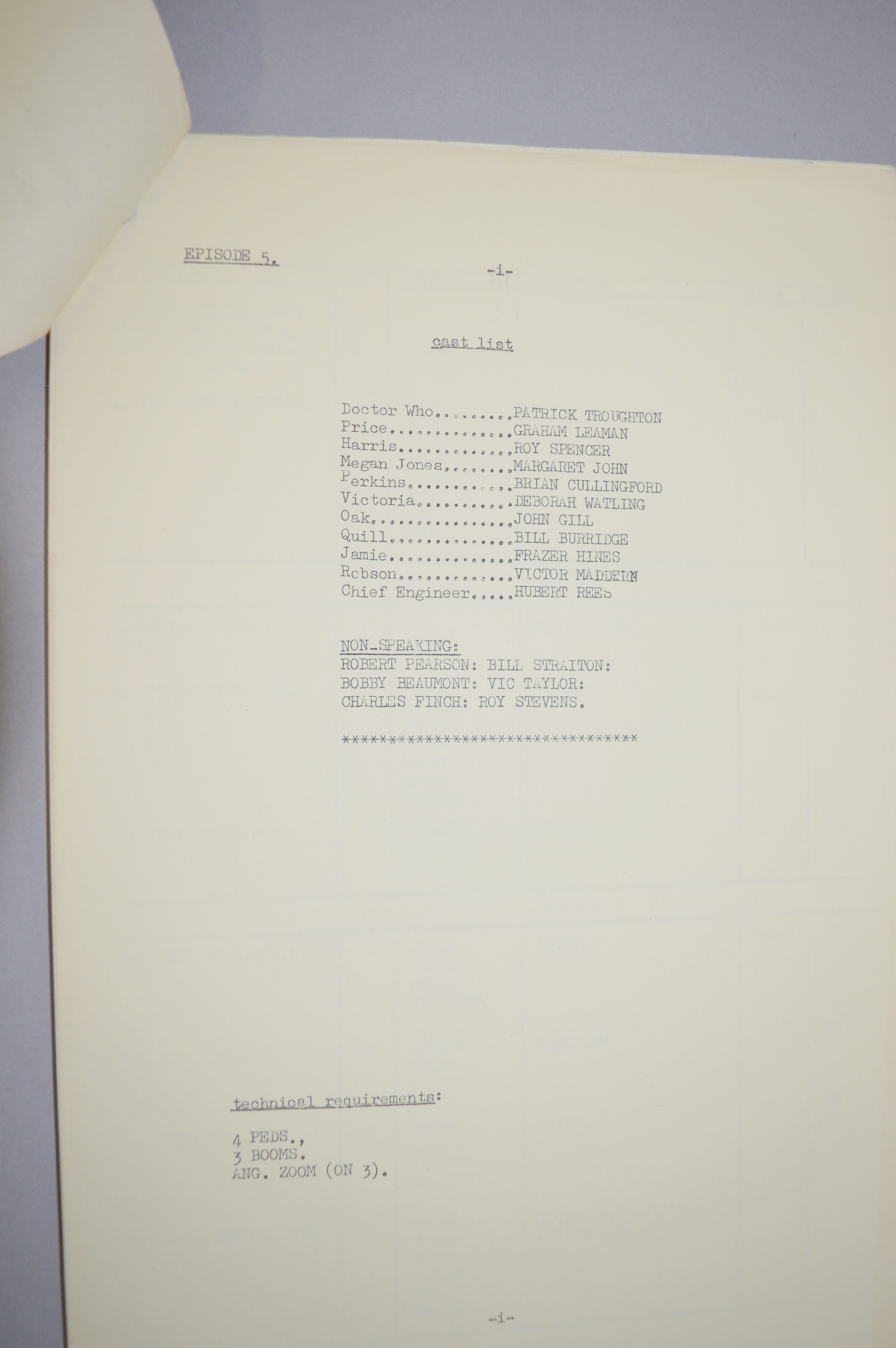 Doctor Who (Dr Who) full set of 6 original camera scripts from the missing 1968 Dr Who episode - - Image 7 of 17