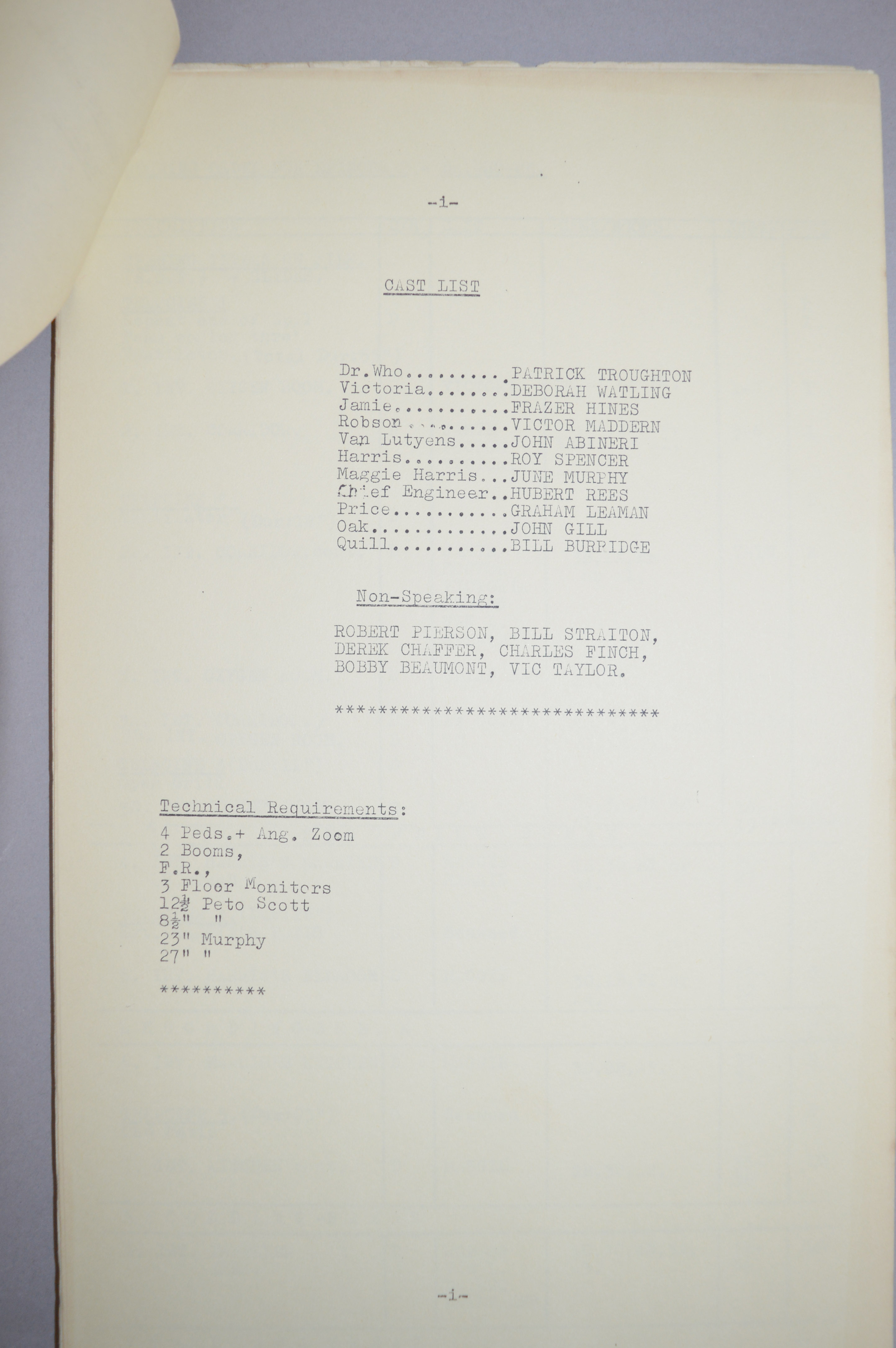 Doctor Who (Dr Who) full set of 6 original camera scripts from the missing 1968 Dr Who episode - - Image 14 of 17