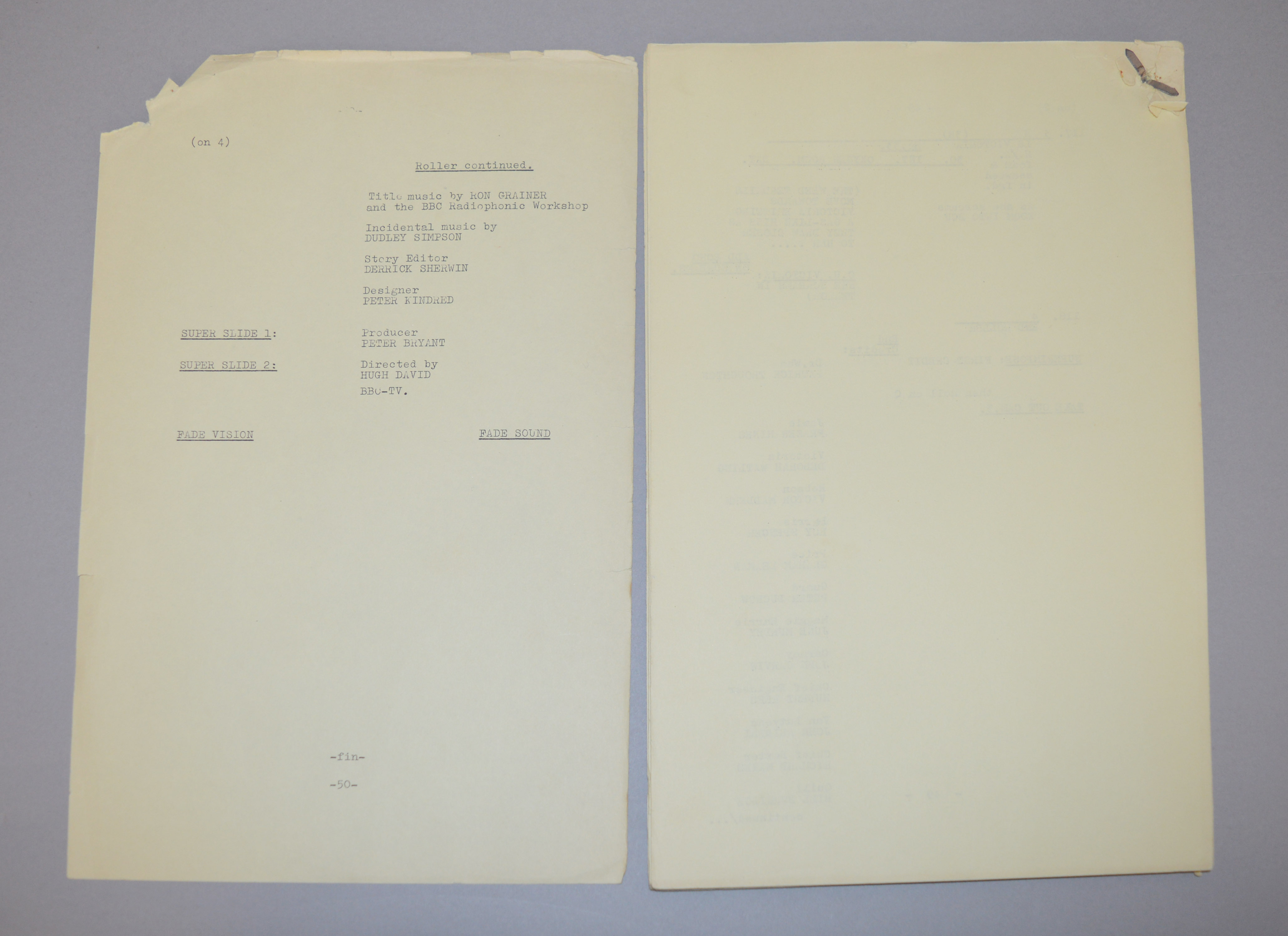 Doctor Who (Dr Who) full set of 6 original camera scripts from the missing 1968 Dr Who episode - - Image 12 of 17