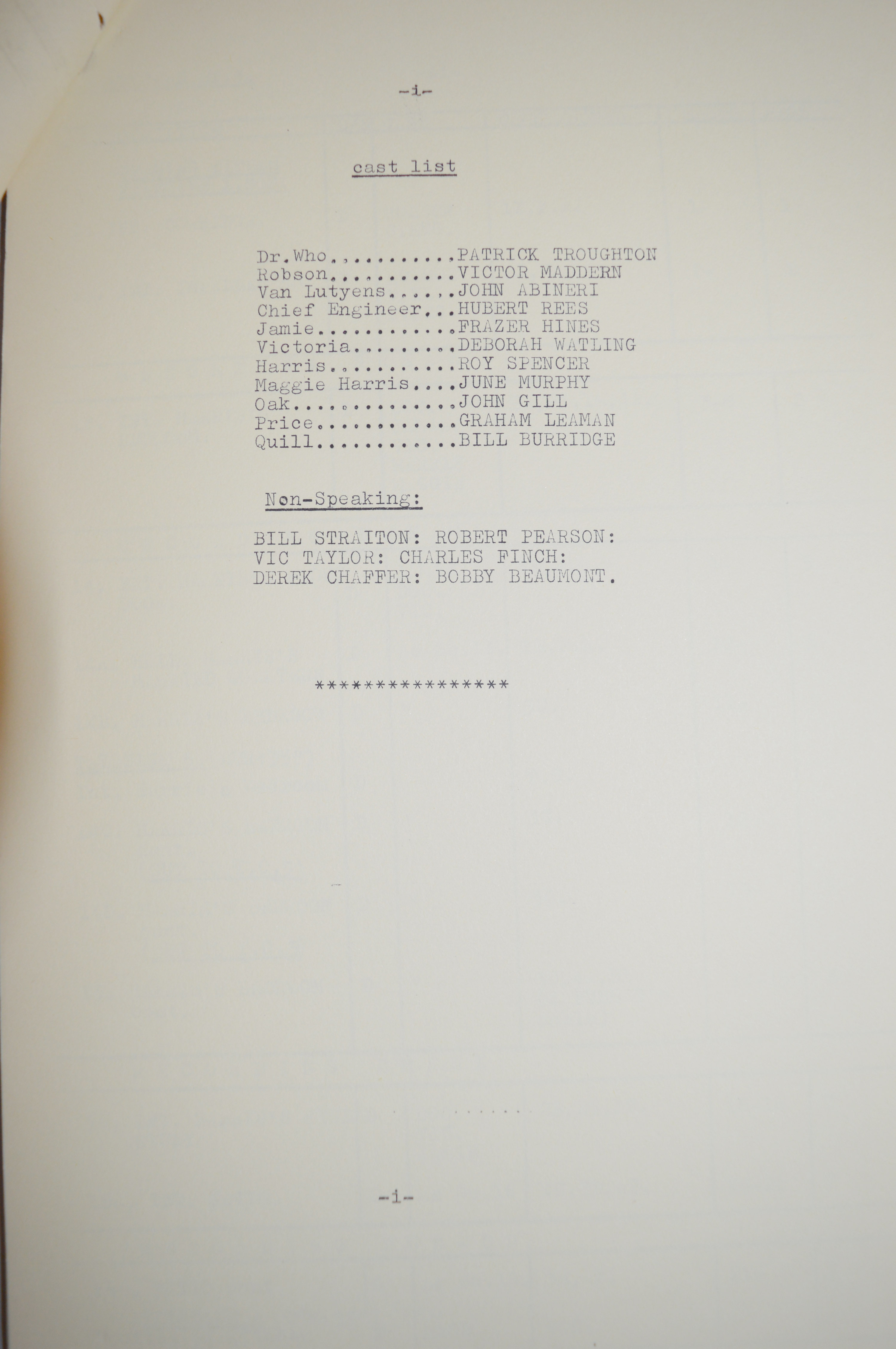 Doctor Who (Dr Who) full set of 6 original camera scripts from the missing 1968 Dr Who episode - - Image 17 of 17
