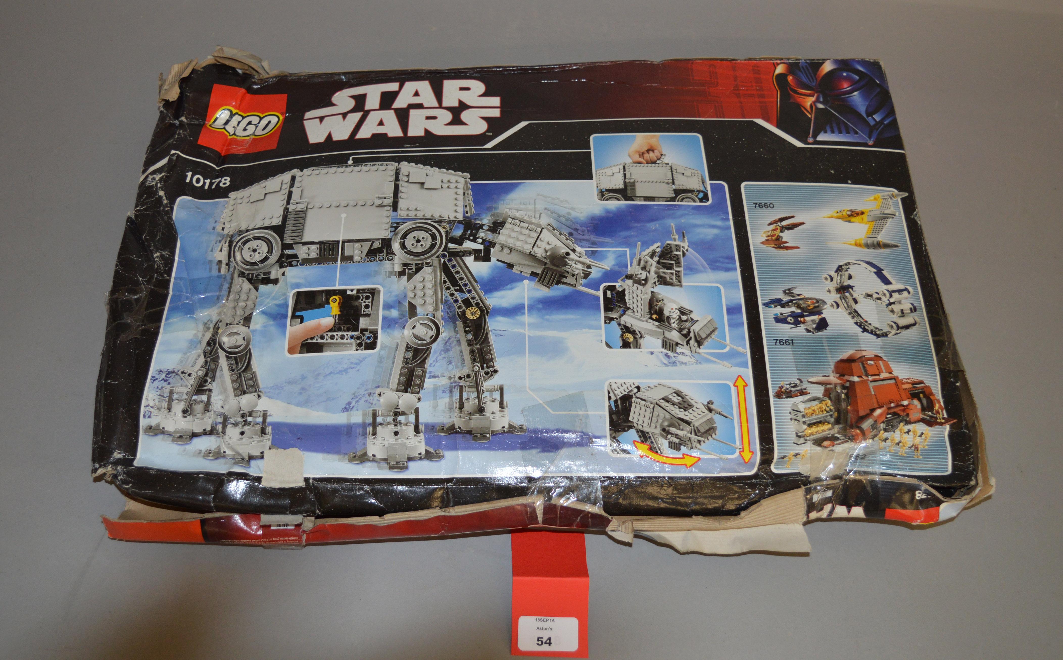 Lot 54 - Lego Star Wars 10178 Motorized Walking AT-AT.