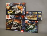 Lot 10 - Four Lego Star Wars sets: 9500 Sith Fury-class Interceptor; 9495 Gold Leader's Y-wing Starfighter;