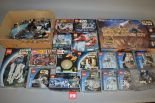 Lot 56 - Good quantity of Lego Star Wars sets, contents not checked, includes: 9748; 8009; 75809; etc.