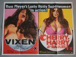Lot 51 - 7 Adult genre British Quad film posters, titles include; Vixen / Cherry,