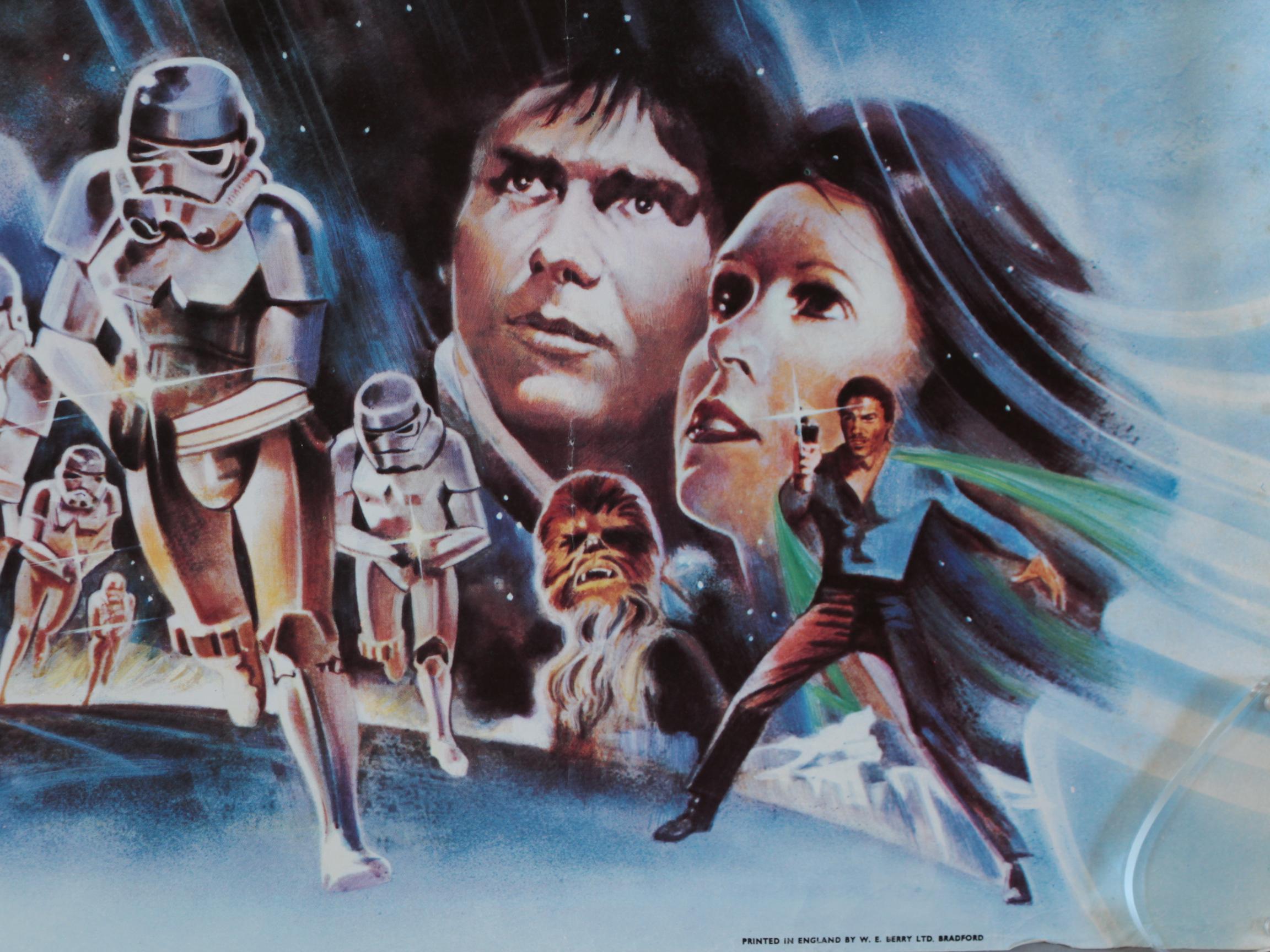 Lot 40 - The Empire Strikes Back original 1980 Star Wars British Quad film poster with artwork of Darth