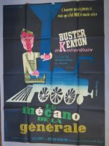Lot 31 - 3 French Grande film posters inc Buster Keaton stars in The General in this French Grande 60s