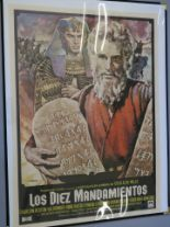 Lot 25 - 6 Selwyns browsers 32 x 42 inch with posters inc The Ten Commandments Spanish film poster with art