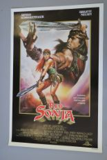 Lot 18 - Ten Selwyn browsers 30 x 42 inch for one sheet posters inc one sheets for Red Sonja, Almost Famous,