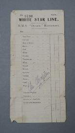 Lot 38A - Charlie Chaplin original autograph signed in pencil on White Star Line RMS Olympic Cruise Ship