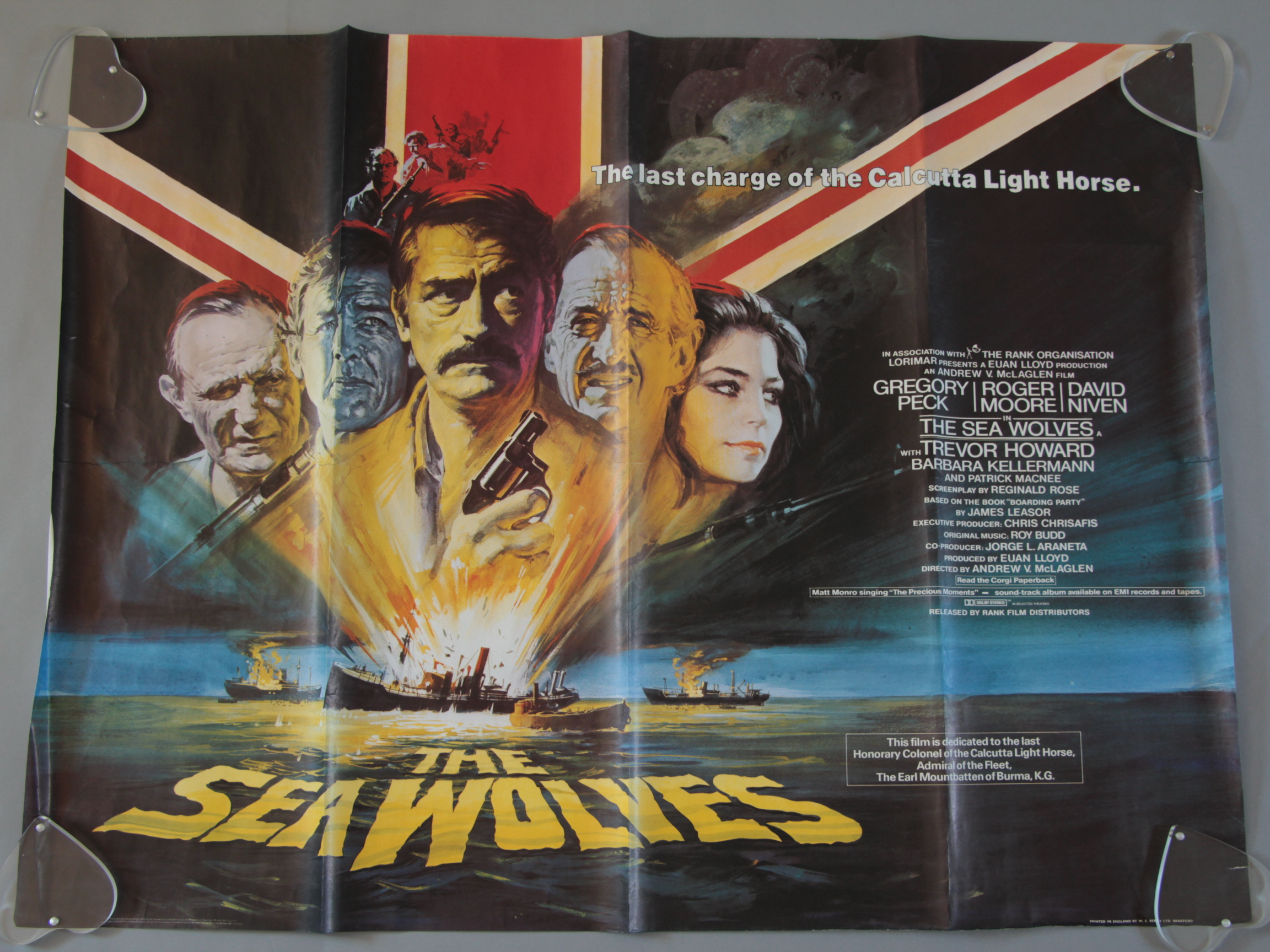 Lot 39 - Ten British Quad film posters including The Sea Wolves, North Sea Hijack stars Roger Moore,
