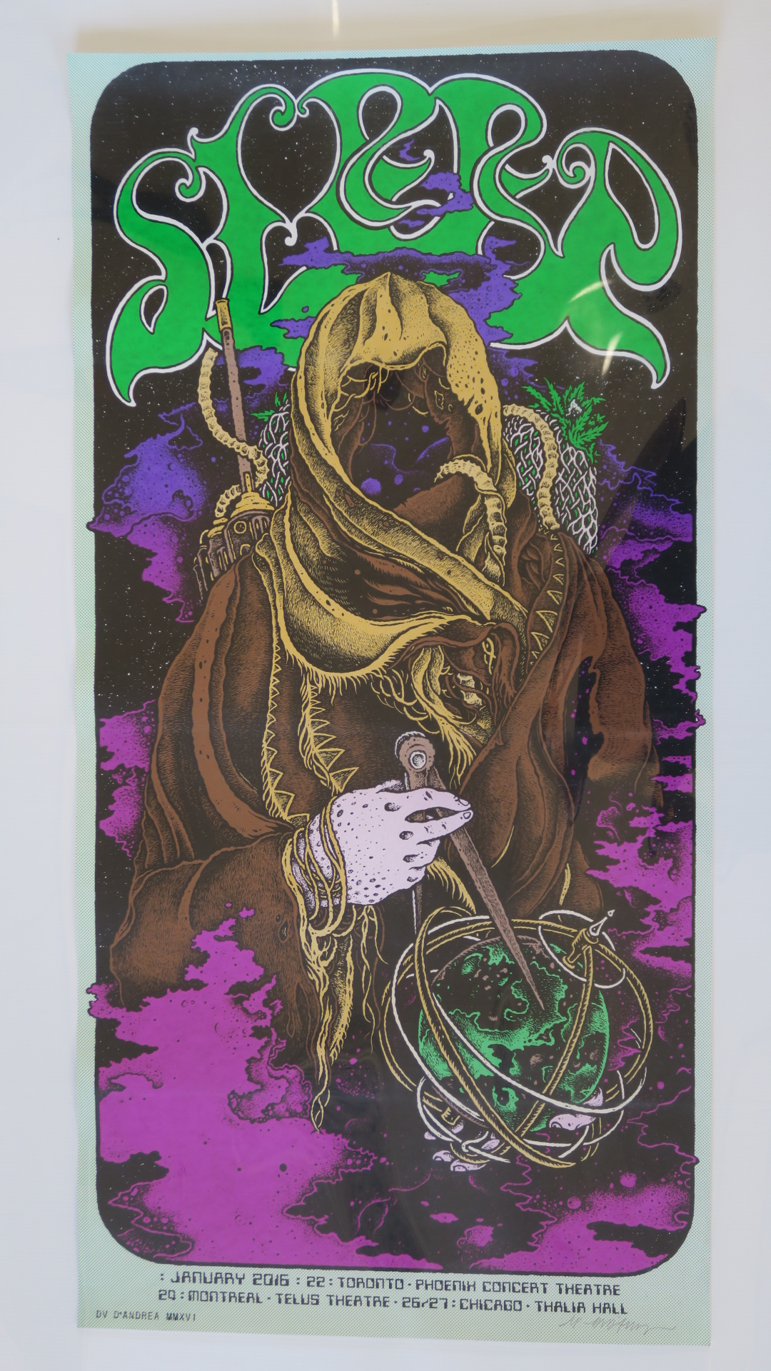 Lot 46 - Collection of limited edition screenprints inc January 2016 Toronto Phoenix concert theatre poster