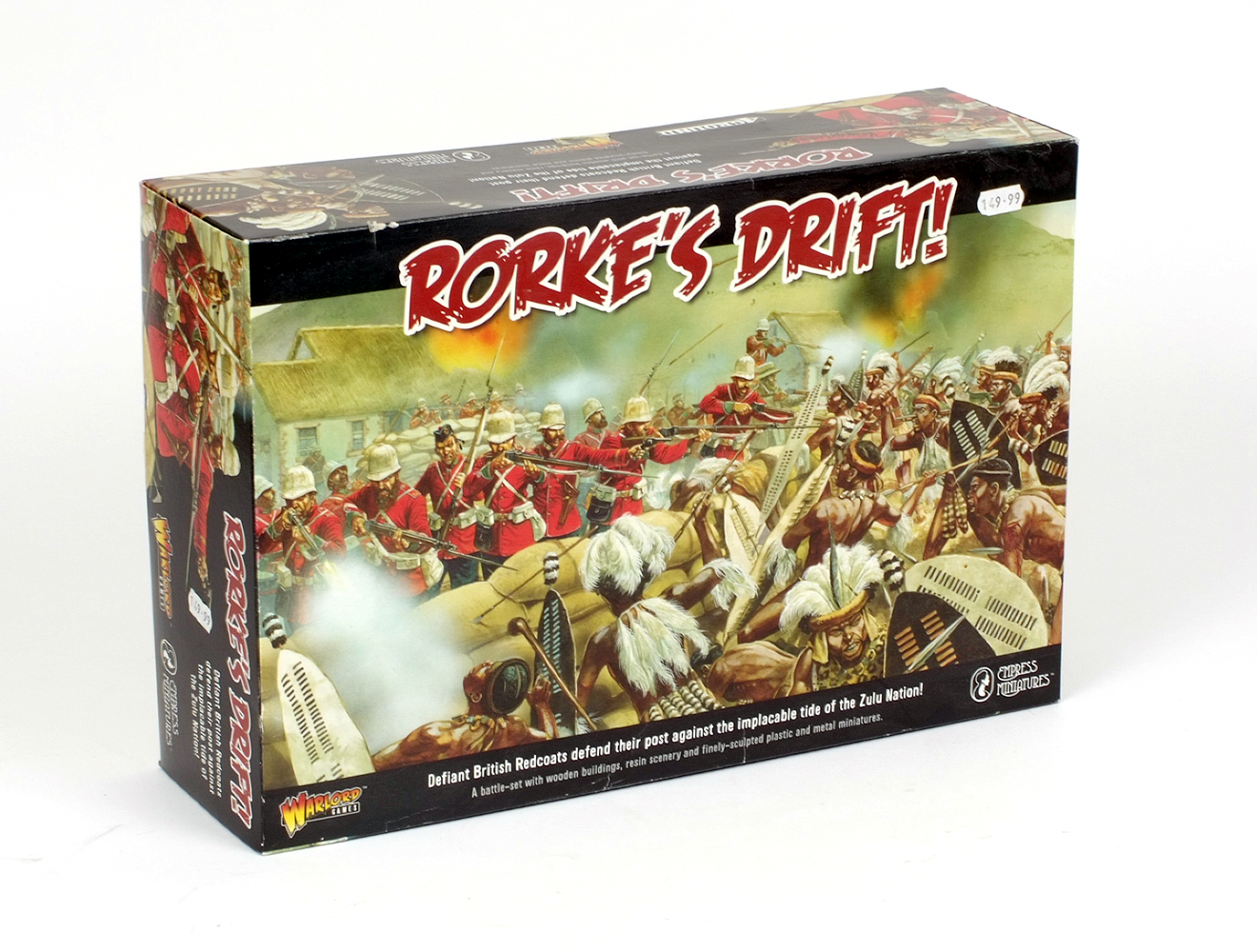 Lot 12 - Warlord Games Rorke's Drift battle set, comprising wooden buildings,