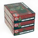 Lot 60 - Three Airfix steam model kits: A08870 1827 Paddle Steamer Engine; two A07870 Four Stroke Engine.