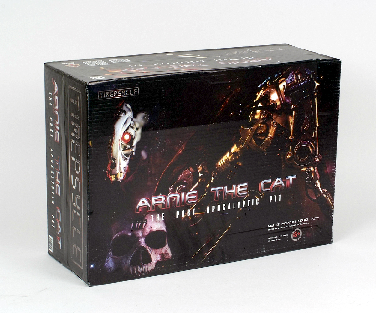 Lot 39 - Timepsycle Arnie The Cat The Post Apocalyptic Cat (Terminator inspired!) model kit, 1:1 scale.