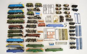 A quantity of unboxed Locomotives, castings and parts by Hornby and others,