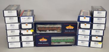 OO gauge. 24 x Bachmann BR coaches. All boxed, G-E.