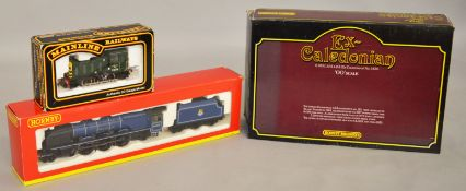 OO Gauge. Three boxed Locomotives including two by Hornby, R2386 B.R.