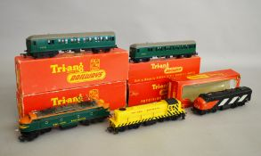 OO Gauge. Three boxed Tri-ang Railways and Triang/Hornby Locomotives, R.155 Diesel Switcher, R.