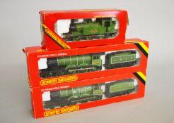 OO Gauge. Three boxed Hornby Railways Locomotives, including an R.