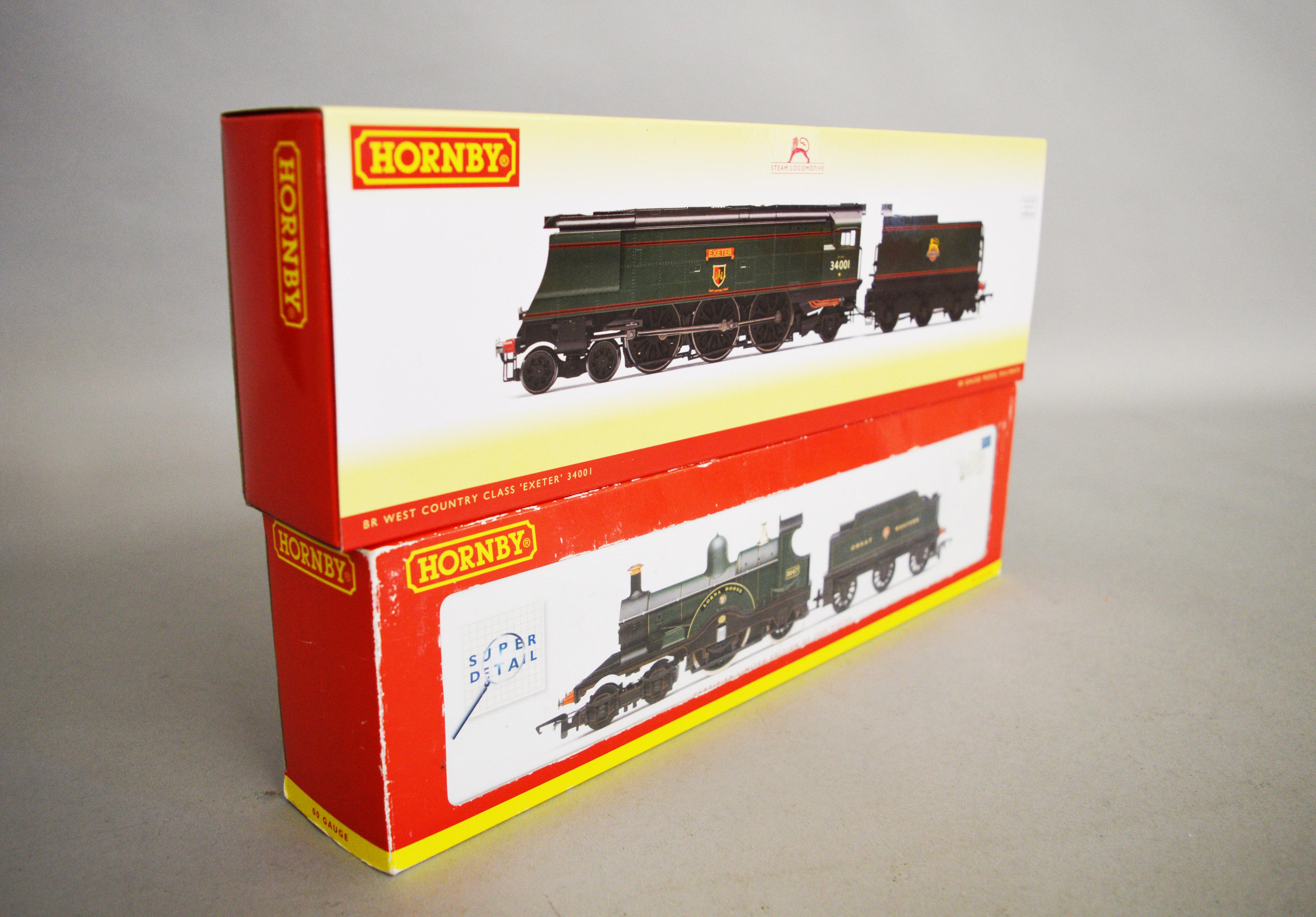 Lot 25 - OO gauge. Two Hornby DCC ready locomotives: R2614 Dean Class 4-2-2 GWR green 'Lorna Doone', ltd.ed.