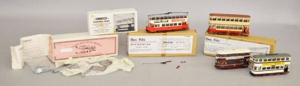 Two boxed OO scale white metal kits,