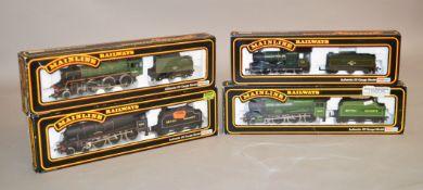 OO gauge. Four Mainline BR Locomotives: 37076 4-6-0 black 'Private W.Wood V.