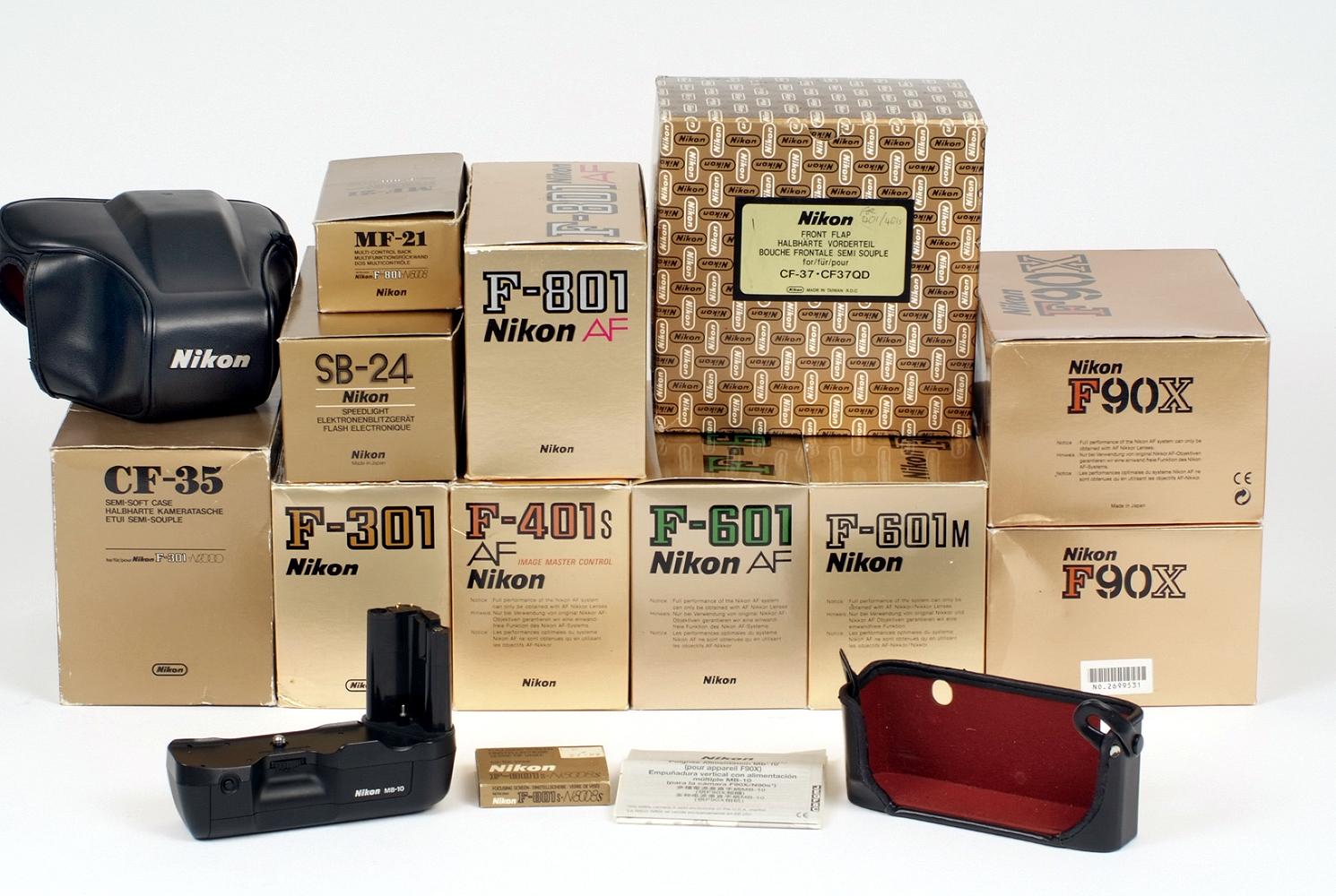 Lot 8 - A Quantity of Boxed Nikon AF Film Camera Bodies.