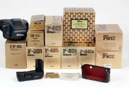 A Quantity of Boxed Nikon AF Film Camera Bodies.