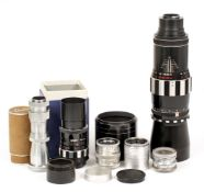 A Collection of Robot Cameras Lenses. To include Tele-Aenar 75mm f3.8 lens, Sonnar 7.