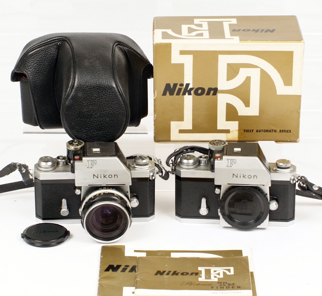 Lot 15 - Two Nikon F Cameras with Photomic TN finders.