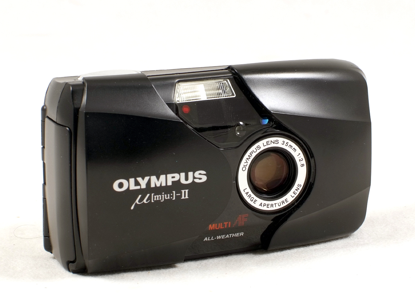 Lot 48 - Olympus Mju II Compact 35mm Film Camera. Condition 5F. With f2.8 AF AW lens.