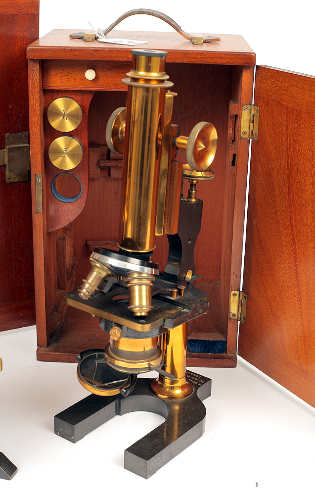 Lot 43 - 3 Good Microscopes.