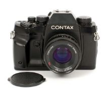Contax RX 35mm SLR Body. #009880 with CZ Planar 50mm f1.7 lens (condition 5/6F).