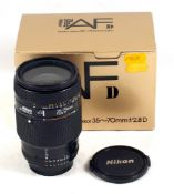 Nikon 35-70mm f2.8 D Auto-Focus Zoom Lens. #806071.