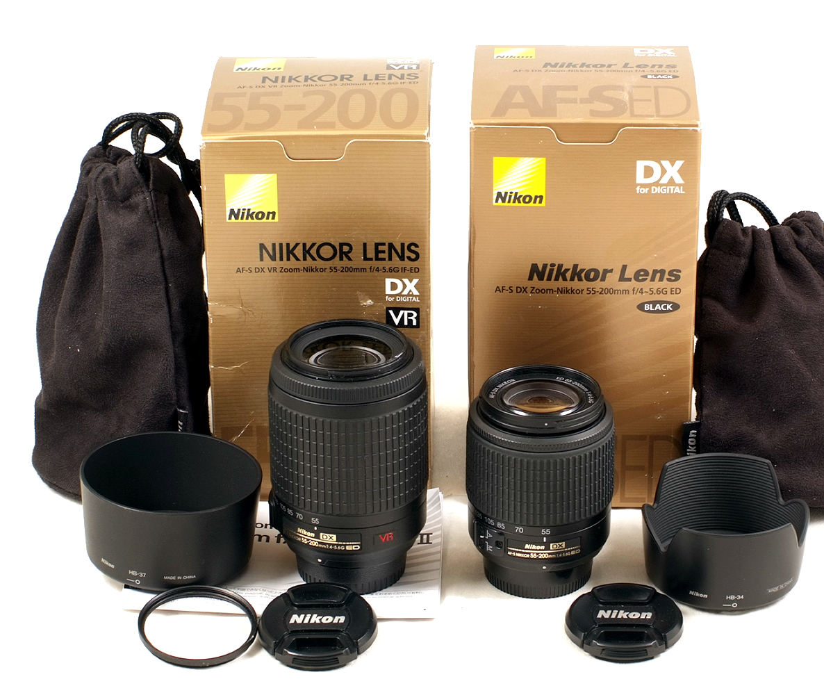 Lot 40 - Nikkor f4-5.6 G ED VR 55-200mm Zoom Lens. (condition 4/5E).
