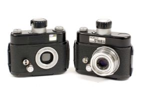 Two Robot Star 50 Clockwork Cameras. #2/189514 (working) with Xenar 38mm f2.