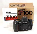 Lot 32 - Boxed Nikon F100 AF Film Camera Body. #B2154287, condition 5F. In maker's box.