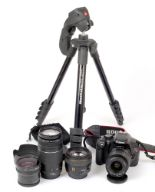 Lot 9 - Canon EOS Rebel T2i DIGITAL Camera, with Sigma 30mm 1.4 lens. (condition 5E).
