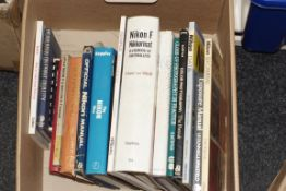 A Box of Nikon and Olympus Related Books.