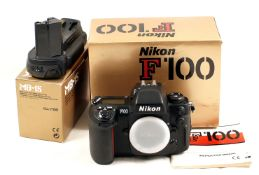 Nikon F100 Pro Film Camera #2106906. (Covering slightly sticky, hence condition 5/6F).