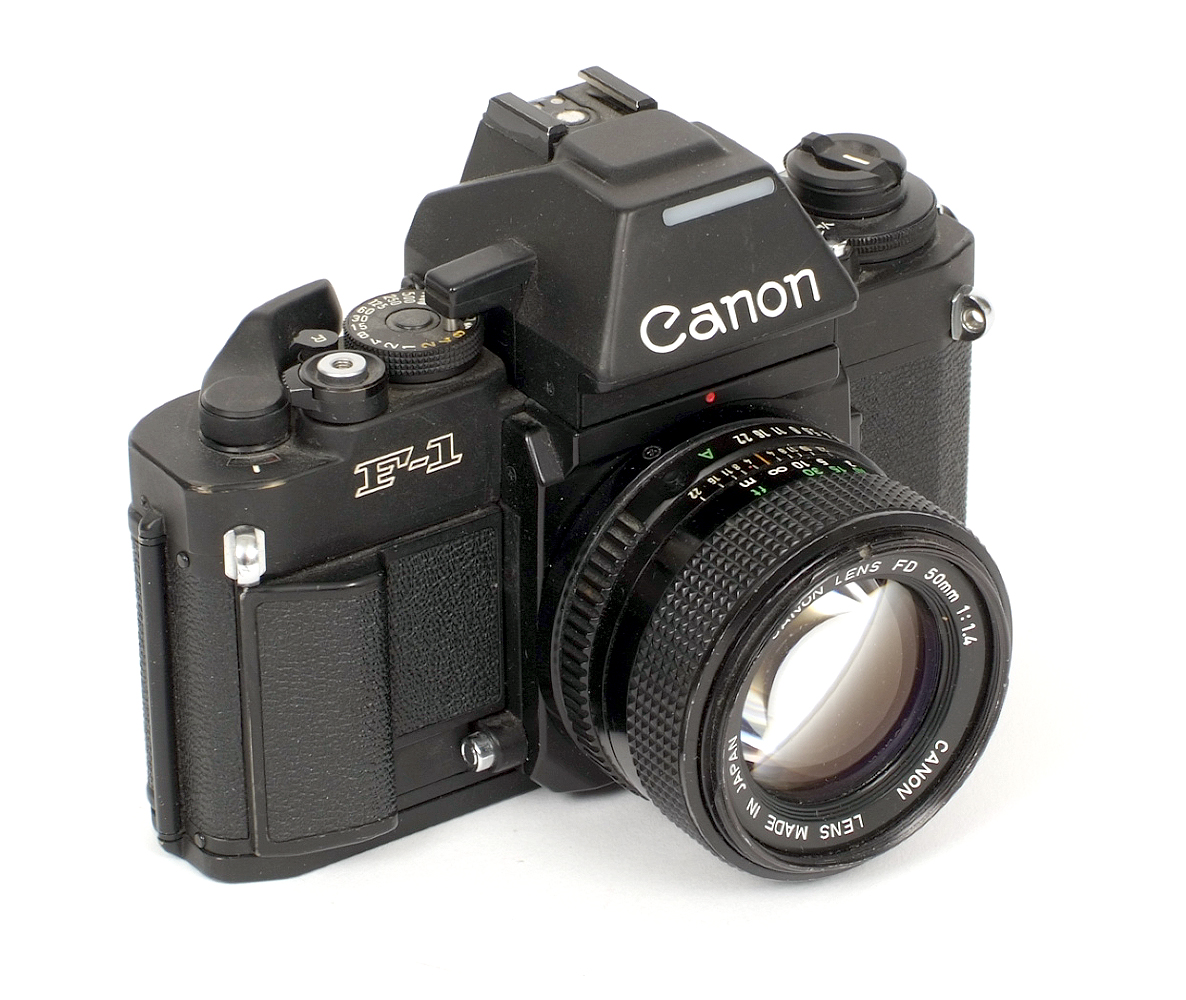 Lot 11 - Canon New F-1 Camera Body. #181483 (condition 5/6F) with Canon FD 50mm f1.