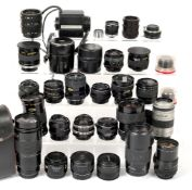 Approximately 24 Various Lenses & Converters, etc.
