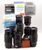 Interesting Collection of various fit camera lenses. To include Vivitar 35-105mm f3.